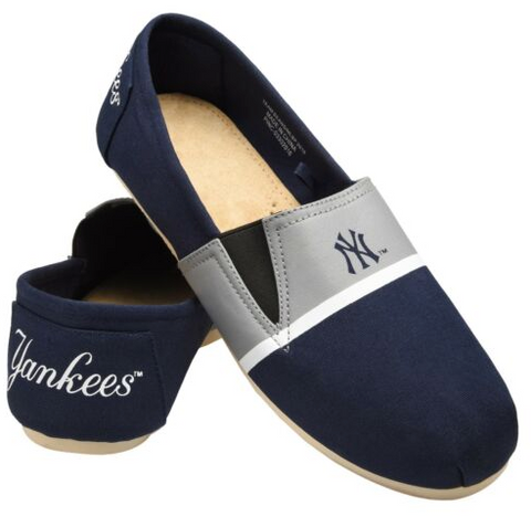 New York Yankees Shoes - Men's Stripe Canvas Shoes