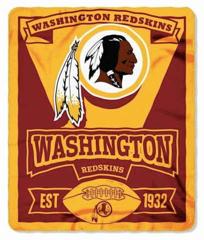 "Washington Redskins - blanket Fleece  (50"" x 60"")"