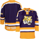 LSU Tigers Jersey - Tiger Logo Hockey Style Custom Jersey - Any Name and Number