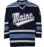 Maine Black Bears Jersey - Custom Script Hockey Jersey - Any Name and Number
