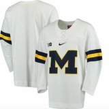 Michigan Wolverines Jersey - Custom White Hockey Jersey - Any Name and Number