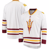 Arizona State Sun DevilsJersey - Custom White Hockey Jersey - Any Name and Number