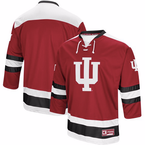 Indiana University Jersey - Custom Logo Hockey Jersey - Any Name and Number
