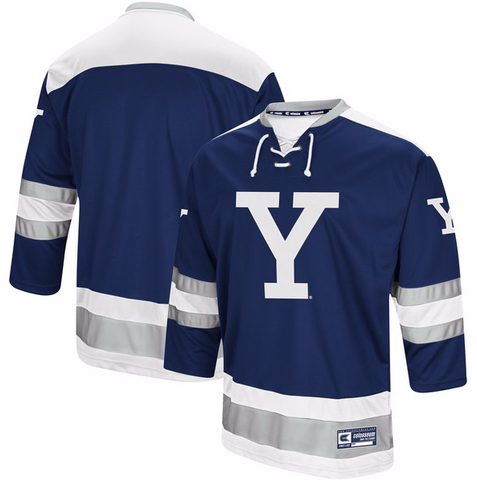 Yale Bulldogs Jersey - Custom Varsity Hockey Jersey - Any Name and Number