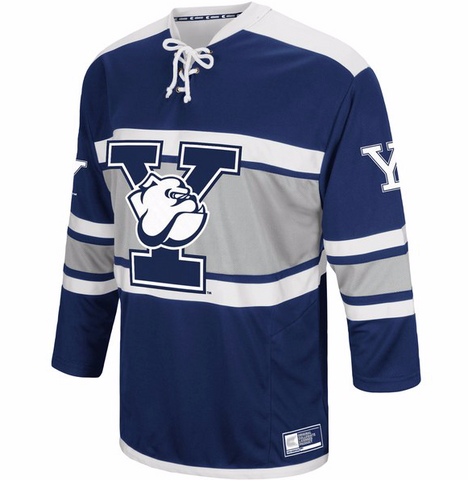 Yale Bulldogs Jersey - Custom Mascot Hockey Jersey - Any Name and Number