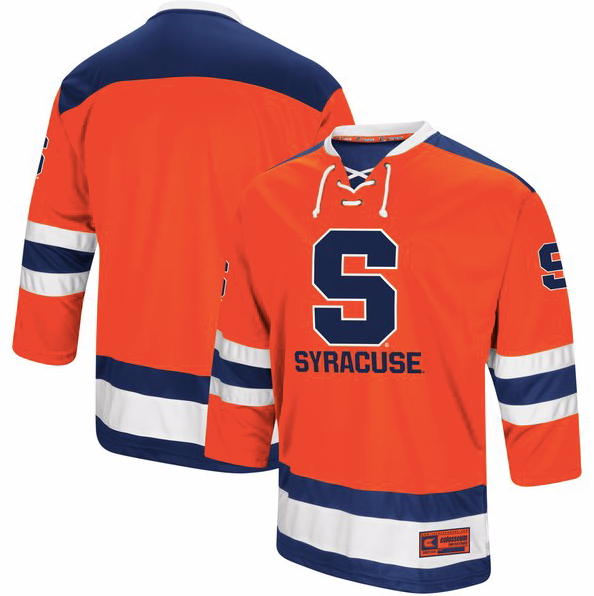 meet 0bdfb e8feb Syracuse Orange Jersey - Custom Logo Hockey Jersey - Any Name and Number