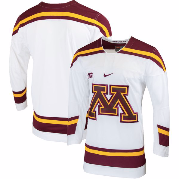 size 40 94ac3 fe1a4 Minnesota Golden Gophers Jersey - Custom White Hockey Jersey - Any Name and  Number