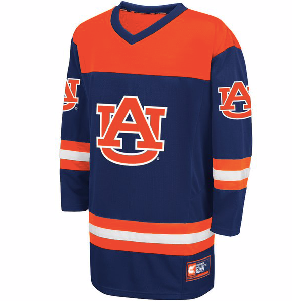 separation shoes 0768e f9adb Auburn Tigers Jersey - Custom Hockey Jersey - Any Name and Number