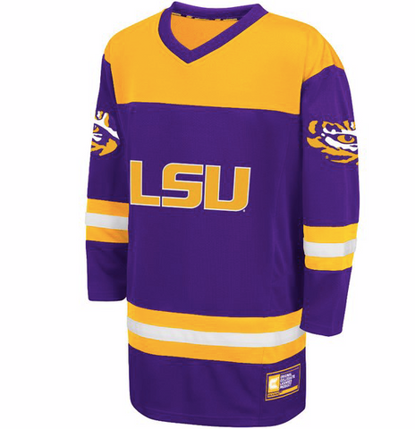 LSU Tigers Jersey - Hockey Style Custom Jersey - Any Name and Number