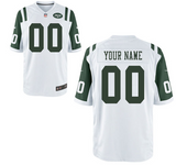New York Jets Jersey - Men's White Custom Game Jersey