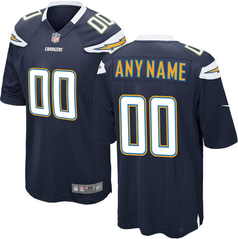 Los Angeles Chargers Jersey - Men's Navy Blue Custom Game Jersey