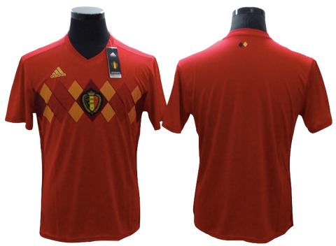 Belgium 2018 FIFA World Cup Jersey - Custom Any Name or Number Red Jersey