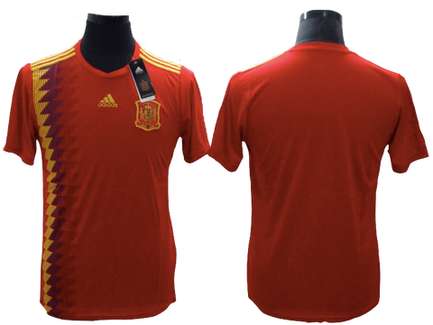 Spain 2018 FIFA World Cup Jersey - Custom Any Name or Number Red Jersey