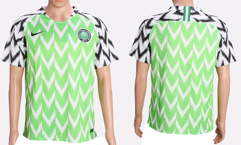 Nigeria 2018 FIFA World Cup Jersey - Custom Any Name or Number Light Green Jersey