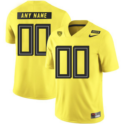 new concept 47f88 b148e Oregon Ducks Jersey - Custom Yellow Jersey - Any Name and Number