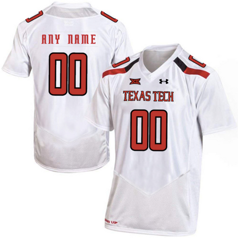 Texas Tech Red Raiders Jersey - Custom White Jersey - Any Name and Number