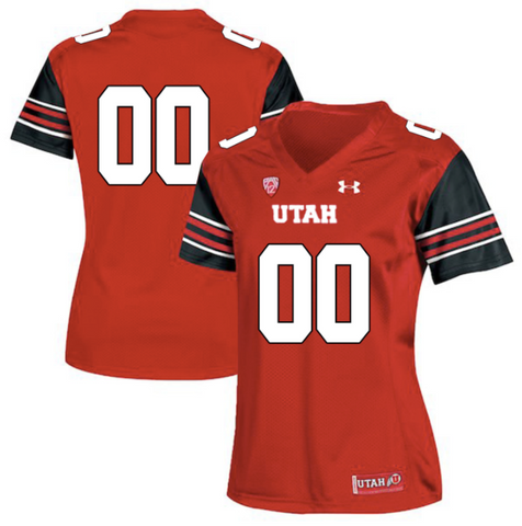 Utah Utes Jersey - Custom Red Women's Jersey - Any Name and Number