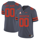 Houston Cougars Jersey - Men's Gray Custom Game Jersey
