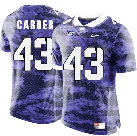 TCU Horned Frogs Jersey - Custom Purple Jersey - Any Name and Number
