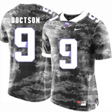 TCU Horned Frogs Jersey - Custom Gray Jersey - Any Name and Number