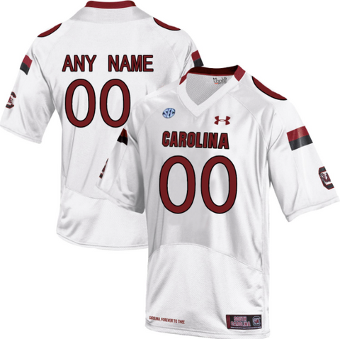 promo code 82dd4 4dc69 South Carolina Gamecocks Jersey - Custom White Jersey - Any Name and Number