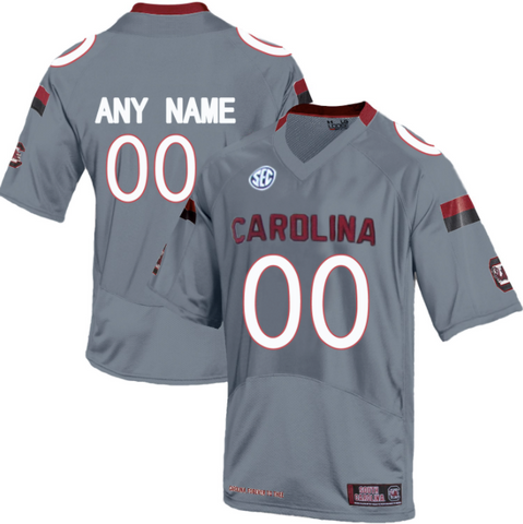 pretty nice 0c92a 2fd9d South Carolina Gamecocks Jersey - Custom Gray Jersey - Any Name and Number
