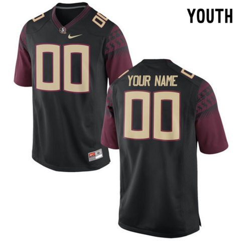 Florida State Seminoles Jersey - Custom YOUTH Black Jersey - Any Name and Number