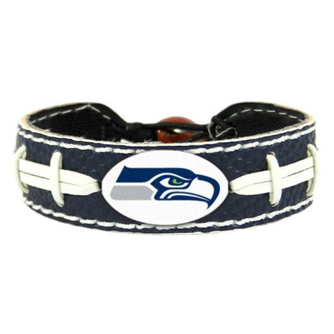 Seattle Seahawks Bracelet - Leather Football Bracelet