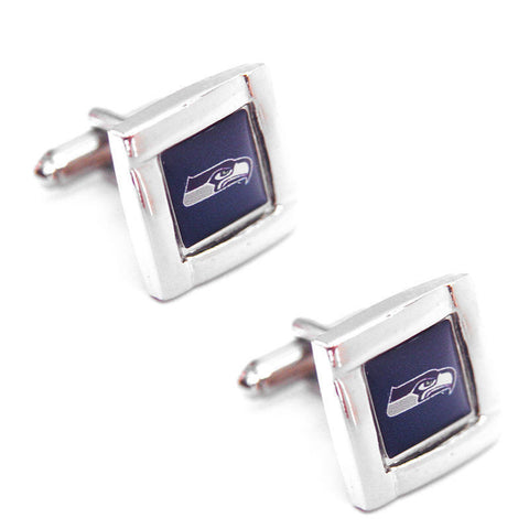 Seattle Seahawks Cuff Links -Square