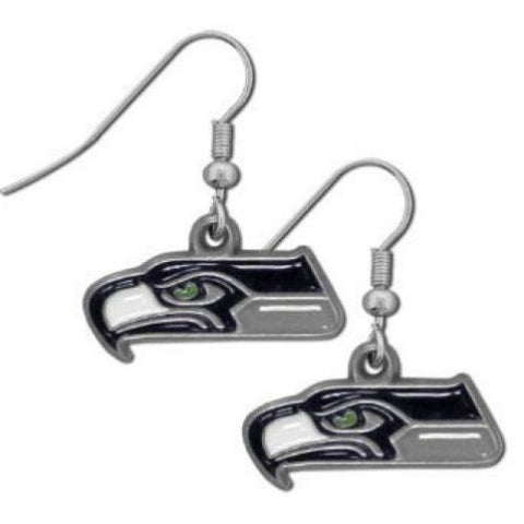 Seattle Seahawks Earrings - Logo Dangle Earrings