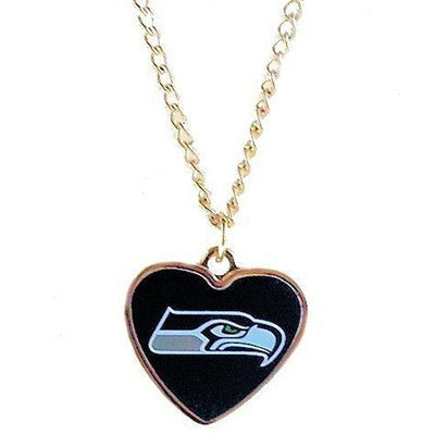 Seattle Seahawks Necklace - Logo Heart Necklace