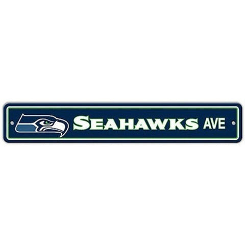 "Seattle Seahawks Sign - Street Sign - 4""x24"""