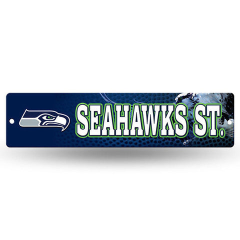 "Seattle Seahawks Sign -Street Sign - 3.75"" x 16"""
