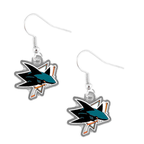 San Jose Sharks Logo Dangle Earrings