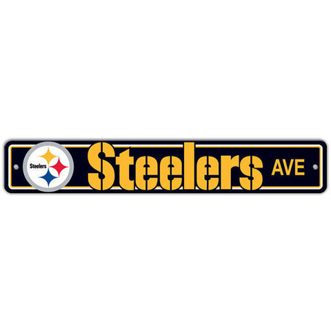 "Pittsburgh Steelers Street Sign - 4""x24"""