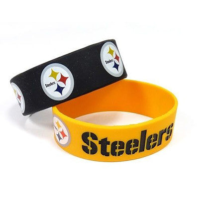 Pittsburgh Steelers Bracelet - Rubber Wrist Bands