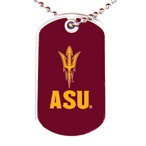Arizona State Sun Necklace - Devils Dog Tag Necklace