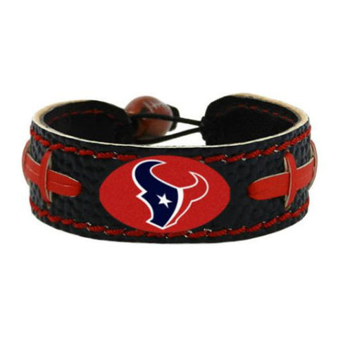 Houston Texans Bracelet - Leather Football Bracelet