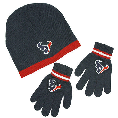 Houston Texans Gloves - Kid s Knitted Winter Hat And Gloves Set ... 56ed469e889