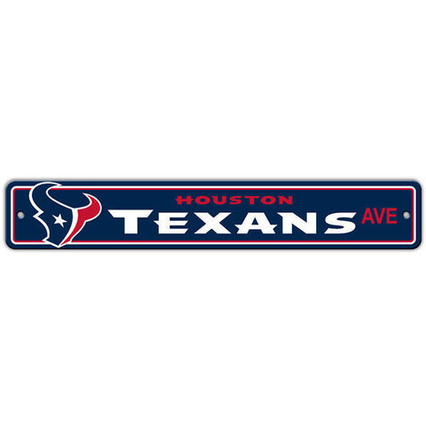 "Houston Texans Sign - Street Sign - 4""x24"""