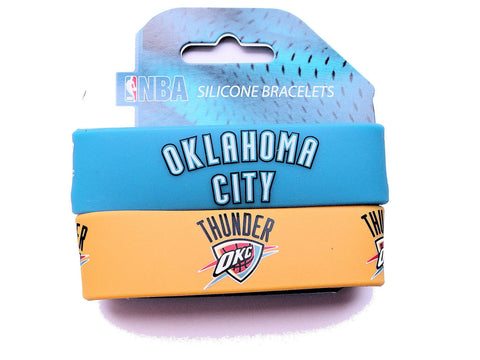 Okalhoma City Thunder Rubber Wrist Bands