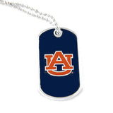 Auburn Tigers Necklace - Dog Tag Necklace