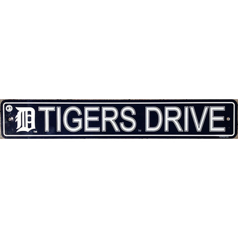 "Detroit Tigers Street Sign - 4""x24"""