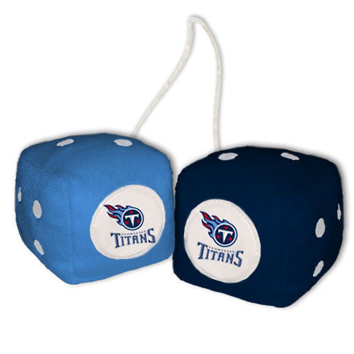 Tennessee Titans Plush Fuzzy Dice