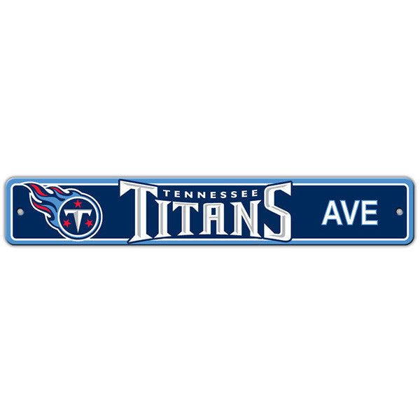 "Tennessee Titans Street Sign - 4""x24"""