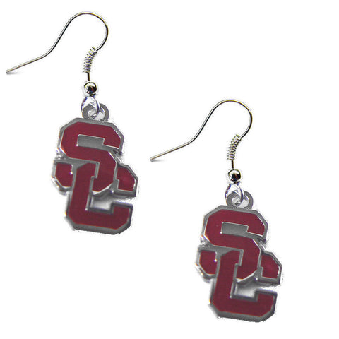 USC Trojans Logo Dangle Earrings