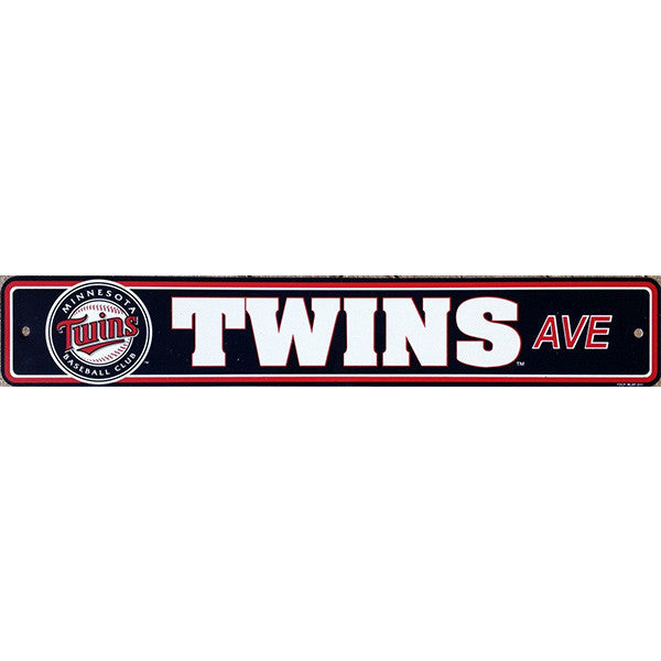 "Minnesota Twins Street Sign - 4""x24"""