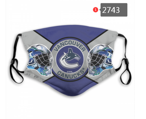 Vancouver Canucks Face Mask - Reuseable, Fashionable, Washable