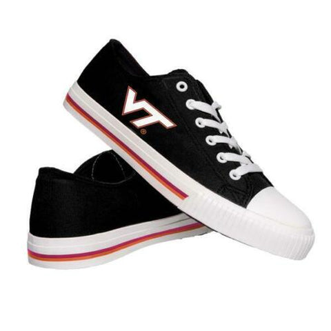 Virginia Tech Hokies Shoes - Mens Low Top Big Logo Canvas