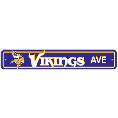 "Minnesota Vikings Street Sign - 4""x24"""